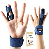 Finger Extension Splint for Trigger Finger, Mallet Finger, Finger Knuckle Immobilization, Finger Fractures, Wounds, Post-operative Care and Pain Relief- Malleable Metallic hand splint finger support