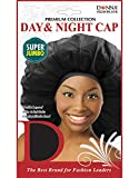 (PACK OF 12) DONNA PREMIUM COLLECTION DAY & NIGHT CAP SUPER JUMBO #22244 BLACK