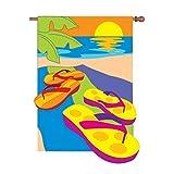 Premier Kites 54204 Prestige Flag, Flip Flop in The Sand, 36 by 52-Inch