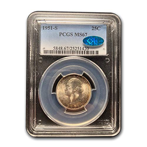 1951 S Washington Quarter MS-67 PCGS CAC Quarter MS-67 PCGS