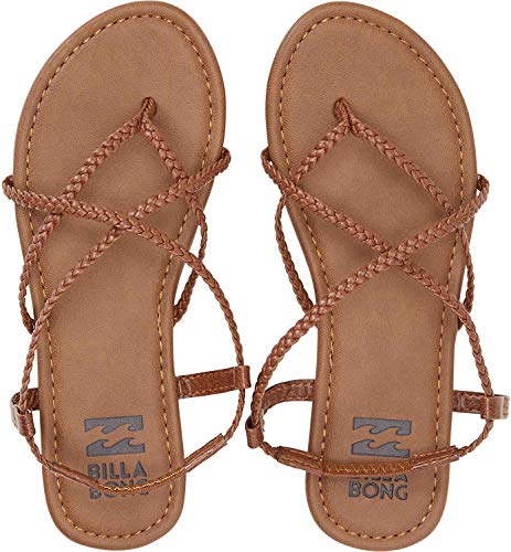 Billabong Women's Crossing Over Flat Sandal, Desert Brown, 10 M US from Billabong