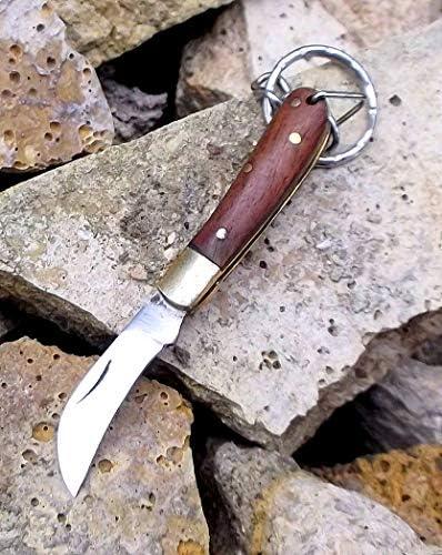les petites mains de porte-cl/és porte-cl/és New Exclusive Mens Porte-cl/és Mens Porte-cl/és 2660 Laguiole Artisan Blue Hardwood Keyring Knife