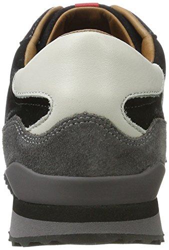 EDWIN mit aus Herrenschuh Schwarz Schwarz Sneaker LLOYD Grey Leder Gummisohle sportiver SWwfwqx5