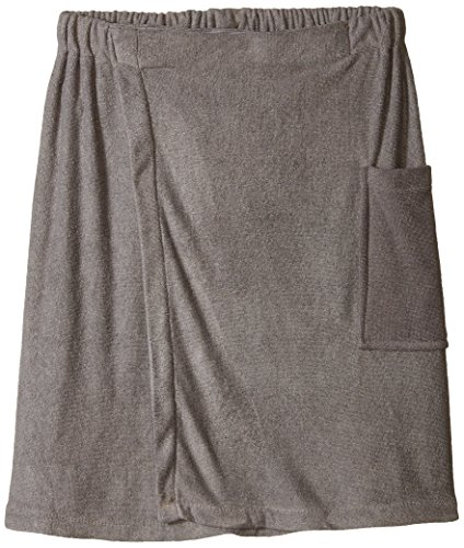 Mens Towel Wrap (DII Men's Microfiber Adjustable Plush Spa Bath Shower Wrap For College Dorms, Pools, Gyms, Beaches, Locker Rooms, Bathroom, 52 x 19