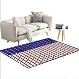 Carpet,American Flag with Stars and Stripes Nationality...