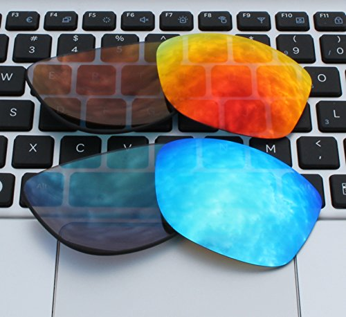 e2fc8dd20b COLOR STAY LENSES 2 Pairs 2.0mm Thickness Polarized Replacement Lenses Fire  Red   Blue for