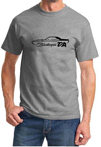 1970 Dodge Challenger TA Classic Outline Design Tshirt large grey