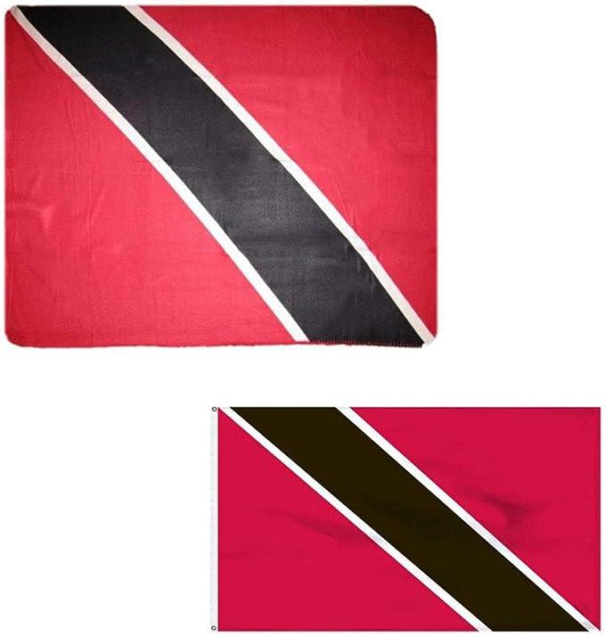 Conjunto de Manta de Forro Polar y Bandera de Trinidad y Tobago Country de 127 x 152 cm y Trinidad y Tobago Country de 91 x 152 cm: Amazon.es: Jardín