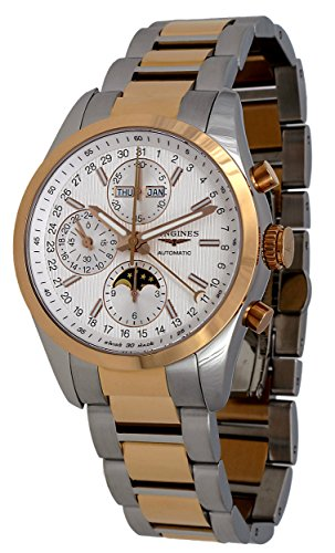 Longines-Conquest-Classic-Automatic-Moonphase-Steel-18k-Rose-Gold-Mens-Watch-L27985727