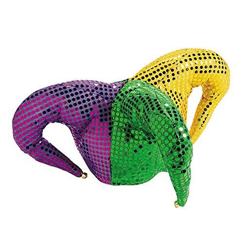 Mardi Gras Jester Hat (Mardi Gras Sequin Jester Hat)