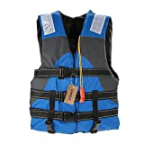 Lixada Adult Safety Life Jacket Survival Vest with Adjustable Straps and Whistle for Outdoor Water Sports Kayaking Boating Fishing Safety Jacket Vest
