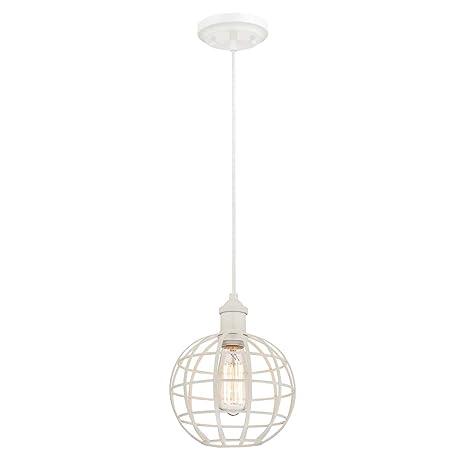 Westinghouse Lighting Lámpara de Techo Colgante de 1 Luz E27, Blanco