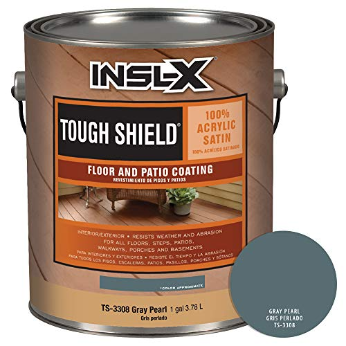 INSL-X TS330809A-01 Tough Shield Floor and Patio Coating Paint, 1 Gallon, Gray Pearl (Floor And Porch Paint)