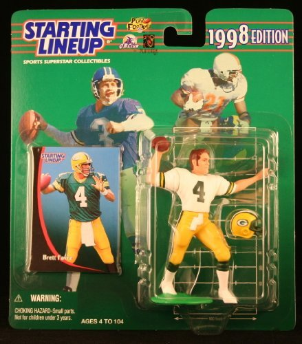 BRETT FAVRE / GREEN BAY PACKERS 1998 NFL Starting Lineup Action Figure & Exclusive NFL Collector Trading - 2007 Championship Game Nfc