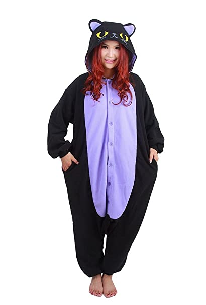 Samgu Pijamas Kigurumi Animal Adulto Unisex de Halloween Cat Onesie: Amazon.es: Ropa y accesorios