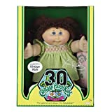 Cabbage Patch Kids Vintage Doll - Limited Edition 30th Birthday - Brunette Hair with Green & White Checkered Dress by Jakks Pacific