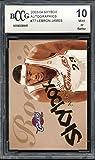 2003-04 Skybox Autographics #77 LeBron James Rookie