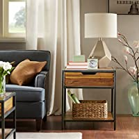 Madison Park Hudson End Table Natural/Graphite See below