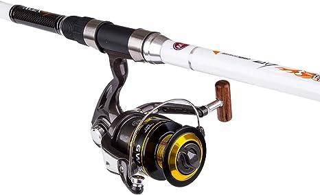 Wcx GW Telescópico Spinning Caña de Pescar Carrete Combos De Fibra ...
