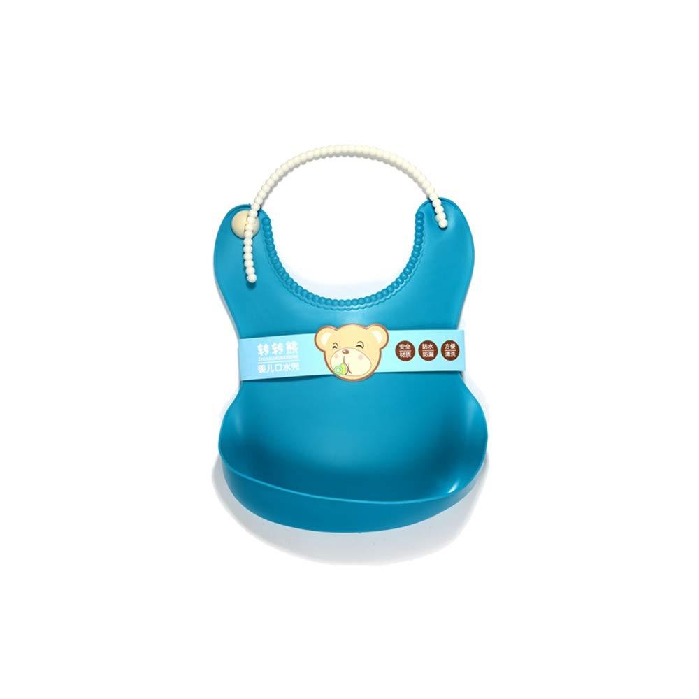 Wasserdichter Silikon-Latz wischt leicht ab! Bequeme weiche Baby-Lätzchen halten Flecken! Verbringen Sie weniger Zeit Reinigung nach Mahlzeiten mit Babys oder Kleinkinder (blau) 2St Qianming