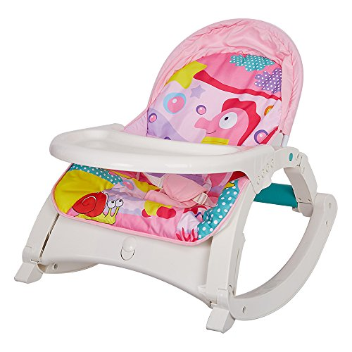 COLORTREE Newborn toToddler Portable Rocker with Dinner Table