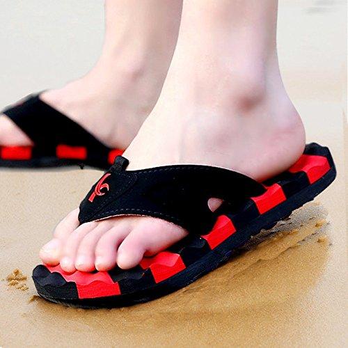 Xing Lin Herren Sandalen Neue Sommer Flip-Flops Männer Flip Flops Strand Hausschuhe Badeschuhe Wasp Rutschfeste Schuhe & Hausschuhe MännerS Tide 44 Rot