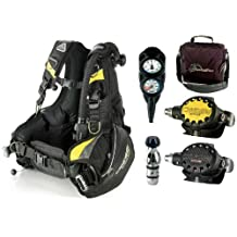 Cressi Travelight BCD Scuba Diving Gear Travel Package Set