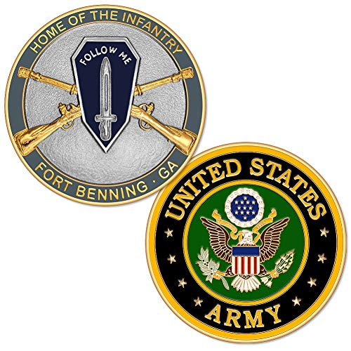 U.S. Army Home of The Infantry Fort Benning, GA Challenge Coin