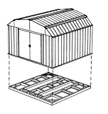 Arrow FDN109 Storage Shed with Floor Base Kit for