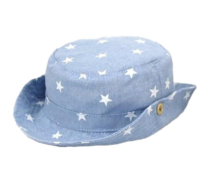 Cappelli per bambini Primavera Estate Nuova stampa Cappello a cinque punte  Denim Fisherman Hat Shade Protezione b9ae0152cce5