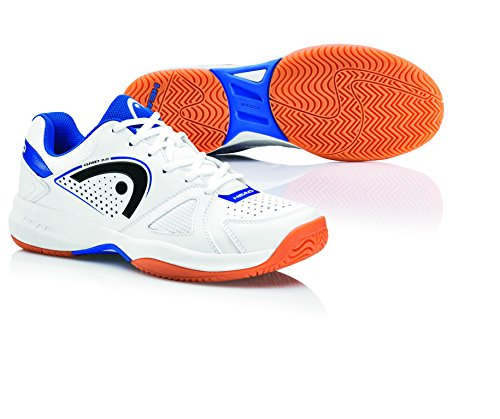 Grid, Zapatillas de Squash Unisex-Adultos, Azul (Marineazul/Blanco), 45 EU Head