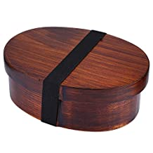 New Arrival Japanese Bento Boxes Wood Lunch Box Handmade Natural Wooden Sushi Box Tableware Bowl Food Container (Brown)