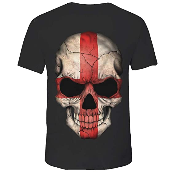 Rooper Camisetas para Hombre De Manga Corta con Personalidad Calavera Pintada Impresi/ón Causal Talla Grande Camisa Blusa Tops Deportiva T-Shirt Hombre Primavera y Verano Camisas De Hombre De Vestir