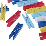 Etmact 2 3/8 inch Wood Craft Spring Clothespins