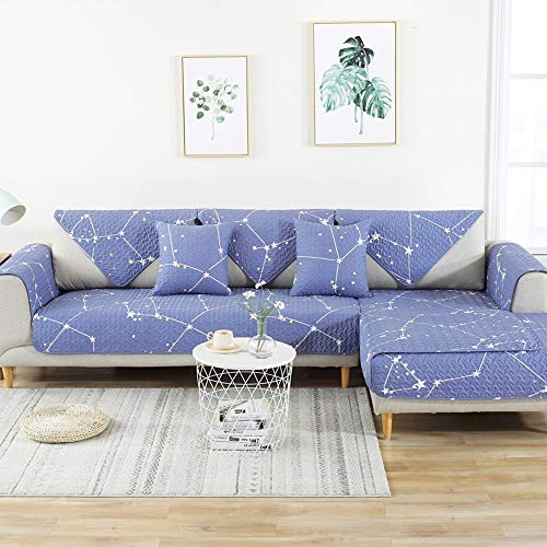 LAZ Cotton Couch Covers, Modern Sectional Couch Slipcover Protector, Thicken Sofa Cover for Dogs, L Shape Sofa Slipcover Recliner Cover, Armchair Cover (Color : I, Size : 90x70cm(35x28inch))