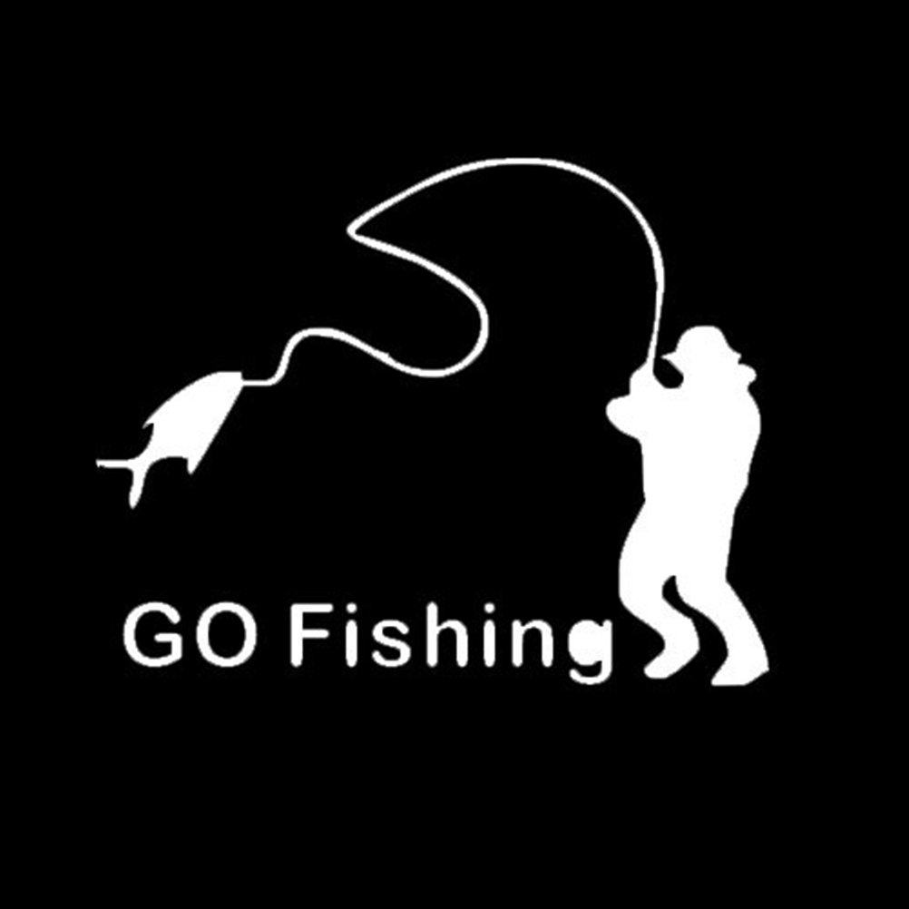 Zhhlaixing autocollant Go Fishing Funny Car Window Vinyl Sticker Decals Body Reflective LX-xin-874-1