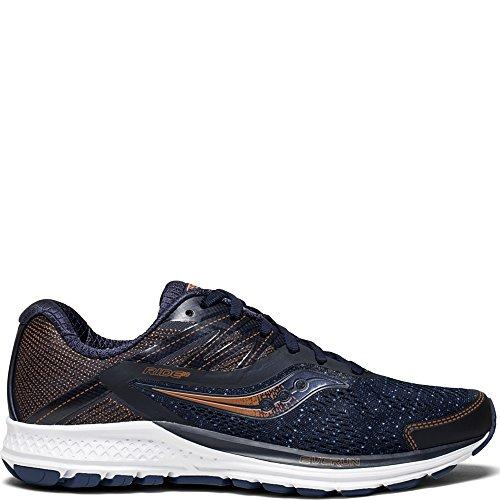 Saucony Women's Ride 10 Running Shoe, Navy/Denim, 8 Medium US