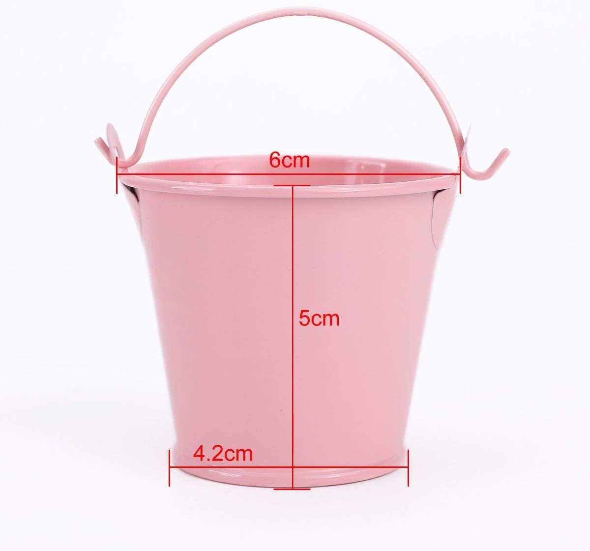 uberyH 12x Mini Cute Metal Bucket Colored Xmas Wedding Party Favors Gift Candy Buckets