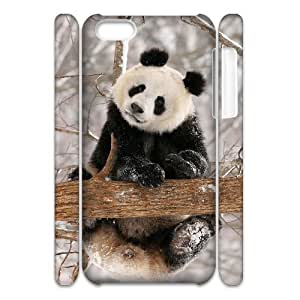 Cell phone 3D Bumper Plastic Case Of Panda For iPhone 5C