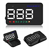 Head-up Display – Bysameyee Universal 3.5 Inch GPS Car HUD over Speed Warning Alarm System, Colorful Compass Driving Direction Reflection for All Size Vehicles
