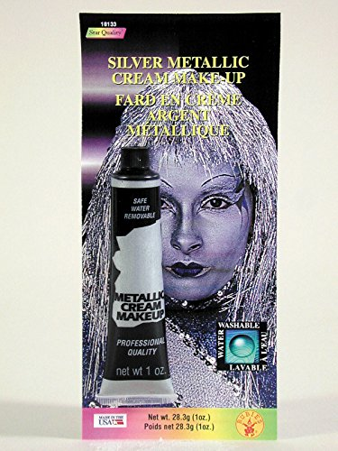 Rubie's Costume Co Silver Metallc Cream Costume Makeup 0.7 oz