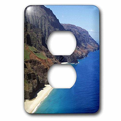 3dRose lsp_89624_6 Napali Coast, Kauai, Hawaii Us12 Dpb0630 Douglas Peebles 2 Plug Outlet Cover by 3dRose