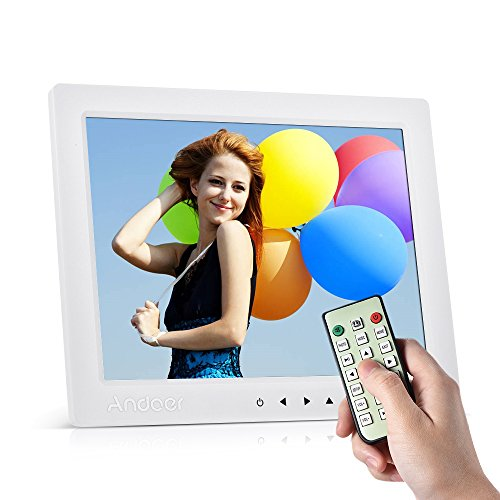 Digital Picture Frame, Andoer 10 inch LED Digital Photo Frame 1080P HD Resolution Desktop Display Image MP4 Video Support Auto Play with Infrared Remote Control/ 7 Touch Key Gift by Andoer