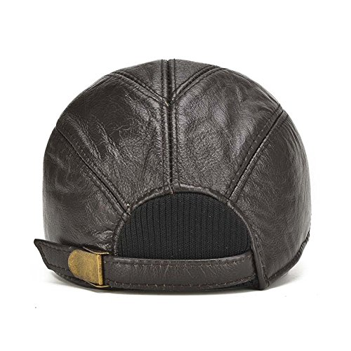 8cecc2ffd acdiac Men Cowhide hat Winter Warm Outdoor Protect Ear Real Leather ...