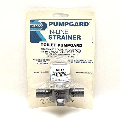 Jabsco Boat Toilet Pumpguard In-Line Strainer 36220-0000 | 3/4 Inch