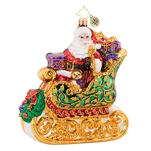 Christopher Radko St. Nick Sleigh Ride Christmas Ornament - Signed by Artist