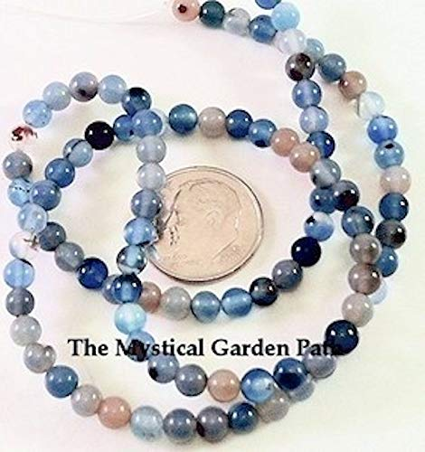 1 Strand Multi Colored Agate 4mm Round Gemstone Spacer Beads Perfect for Earrings, Necklaces or Bracelets