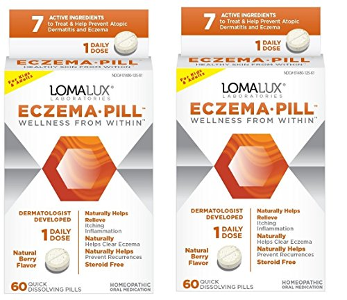 Eczema Pill, All Natural Skin Clearing Minerals - Steroid Free - Dermatologist Developed For Children & Adults, Natural Berry Flavor, 60 Quick Dissolving Pills (2)