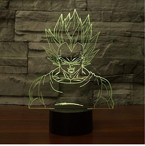 Dragon Lámpara Creativa Ball 7 3d Luz De Noche Led La wN80vOmn