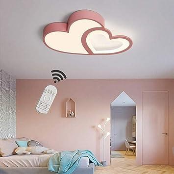 SLZ LED Deckenleuchte Kinderzimmer Lampe Dimmbar Mit Fernbedienung  Deckenlampe Kreative Warm Romantisch Designer Kronleuchter Herzform Acryl  ...